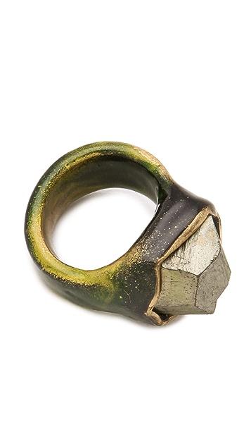 Adina Mills Design Pyrite Pinky Ring