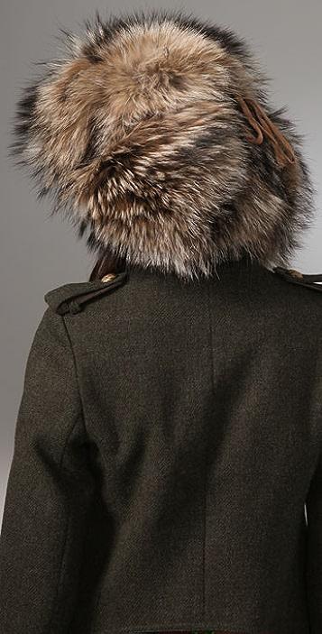 Adrienne Landau Fur Trapper Hat