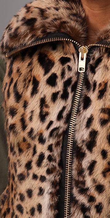 Adrienne Landau Zipped Fur Vest