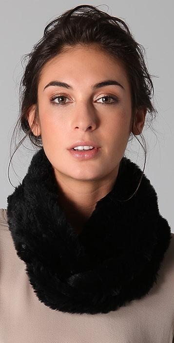 Adrienne Landau Rabbit Fur Loop Scarf