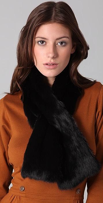 Adrienne Landau Fur Pull Through Scarf