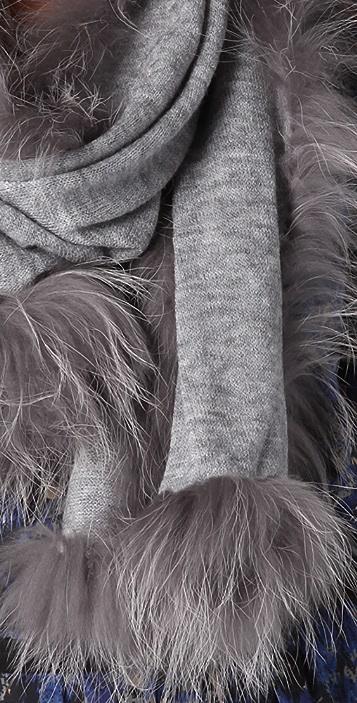 Adrienne Landau Raccoon Knit Scarf