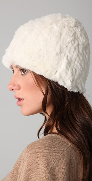 Adrienne Landau Rabbit Fur Hat
