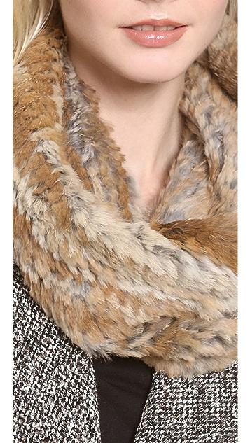 Adrienne Landau Knit Rabbit Cowl