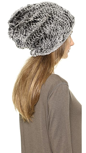 Adrienne Landau Knit Fur Hat