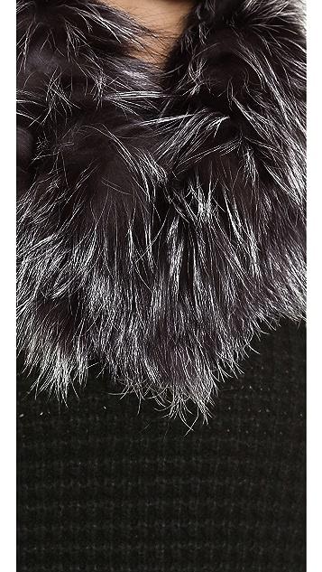 Adrienne Landau Knit Fur Cowl