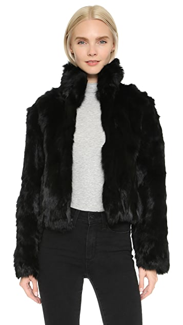54e601f3f7e4 Adrienne Landau Rabbit Fur Jacket | SHOPBOP