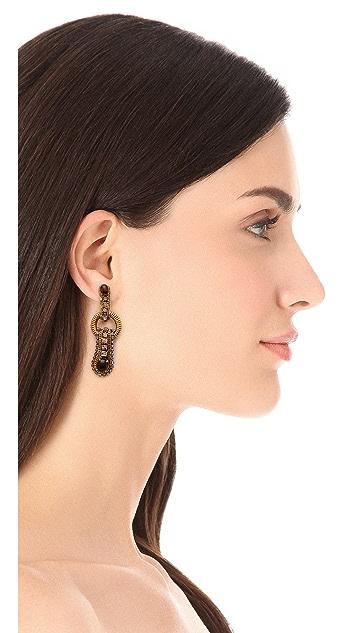 AERIN Erickson Beamon Gem Leaf Earrings