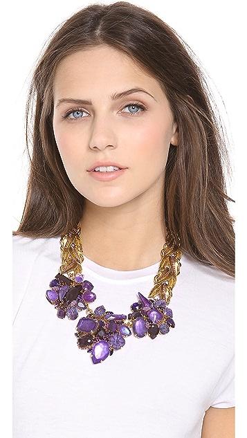 AERIN Erickson Beamon Leaf & Stone Necklace