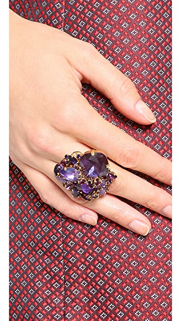 AERIN Erickson Beamon Gemstone Cocktail Ring