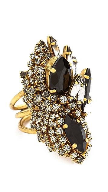 AERIN Erickson Beamon Oversized Crystal Statement Ring