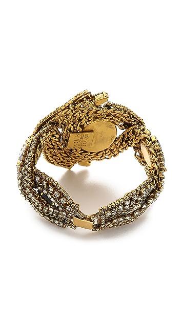 AERIN Erickson Beamon Triple Gemstone Bracelet