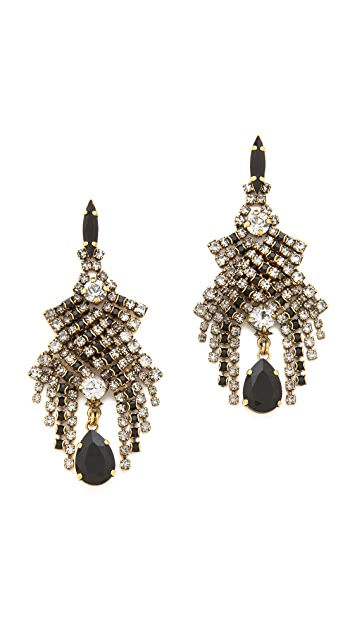 AERIN Erickson Beamon Cascading Crystal Earrings