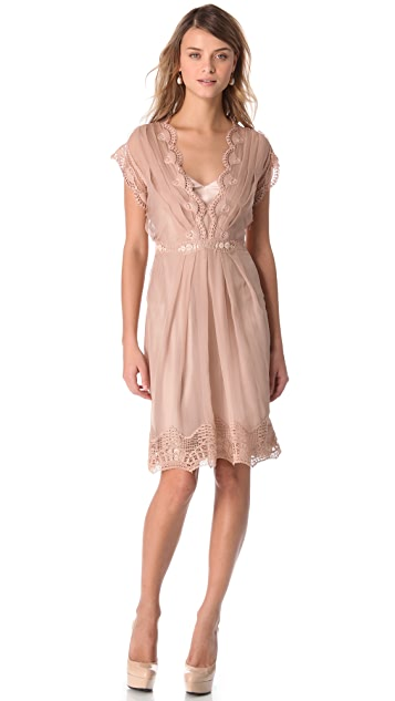 Alberta Ferretti Collection Sleeveless V Neck Dress