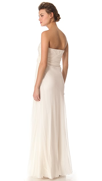 Alberta Ferretti Collection Strapless Gown
