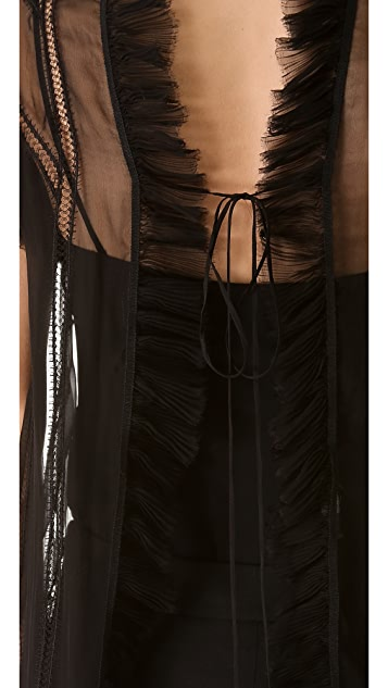 Alberta Ferretti Collection Sleeveless Ruffle Top