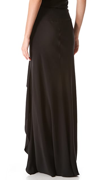 Alberta Ferretti Collection Ruffle Maxi Skirt