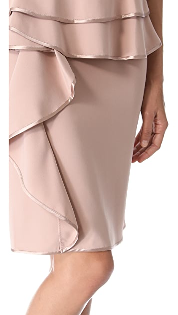 Alberta Ferretti Collection Long Sleeve Peplum Dress