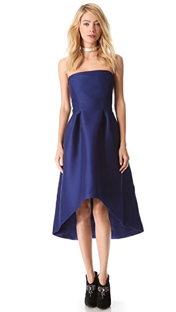 Alberta Ferretti Collection Strapless Cocktail Dress