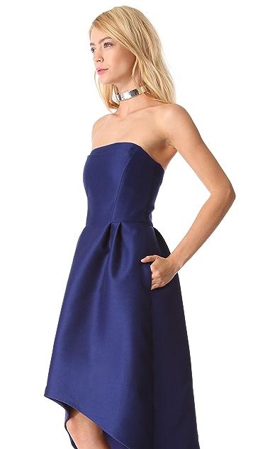 Alberta Ferretti Collection Strapless Cocktail Dress