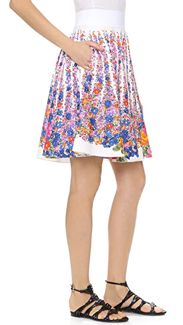 Alberta Ferretti Collection Floral Poplin Skirt