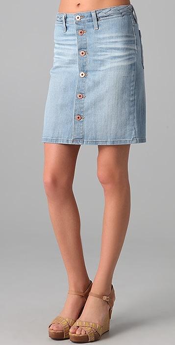 AG Lula A-Line Denim Skirt