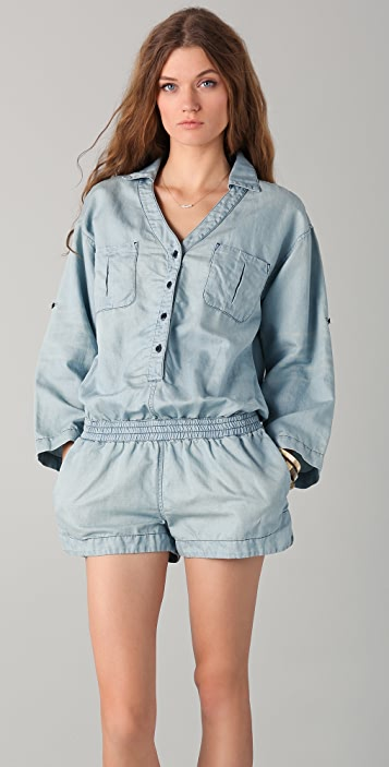 AG All In One Denim Romper