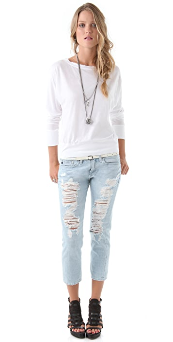 AG Piper Cropped Slim Boyfriend Jeans