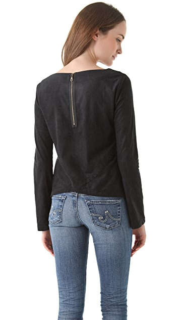 AG Crossback Top with Exposed Zipper