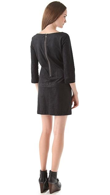 AG Zip Back Microsuede Dress