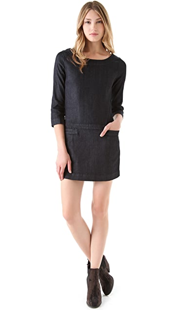 AG Zip Back Shift Denim Dress