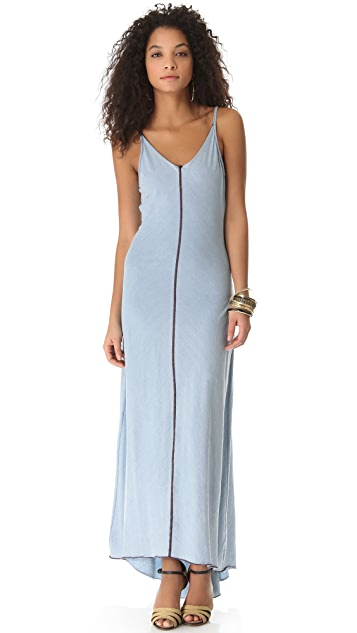 AG V Neck Racer Maxi Dress