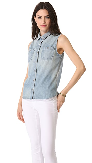 AG The Faye Sleeveless Shirt