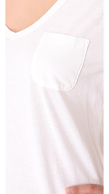 AG V Neck Pocket Tee