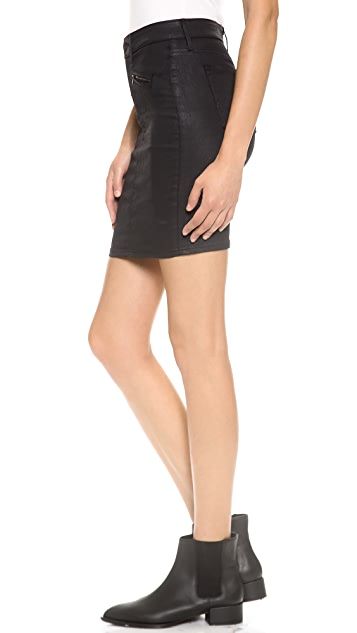 AG The Kodie Biker Pencil Skirt