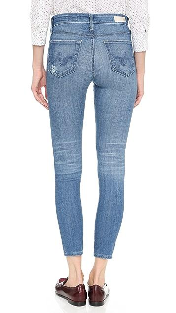 AG Farrah High Rise Crop Skinny Jeans