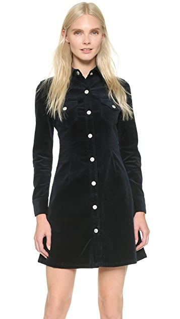 bd2540be26 AG Alexa Chung x AG Pixie Corduroy Shirtdress