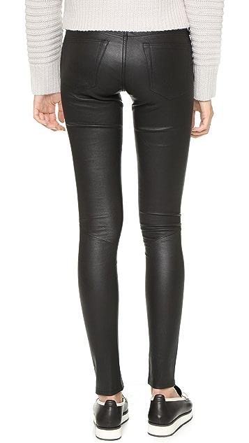 AG Кожаные брюки-скинни