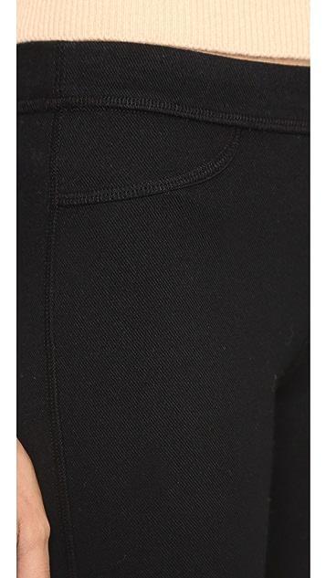 AG 针织奢华套穿贴腿牛仔裤