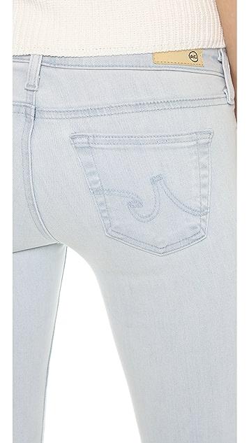 AG Raw Hem Legging Ankle Jeans