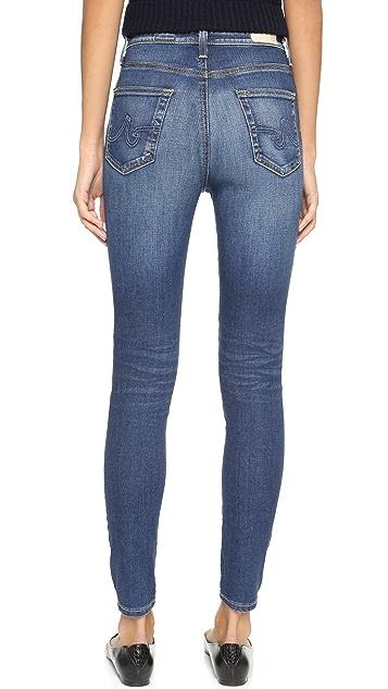AG Узкие джинсы-скинни Principle с высокой посадкой