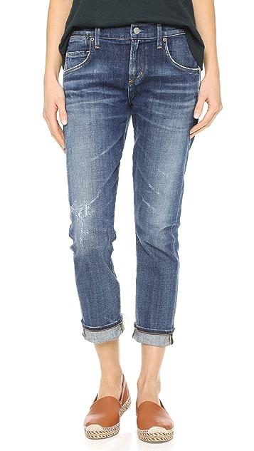 AGOLDE Узкие джинсы-бойфренды до щиколотки Isabel