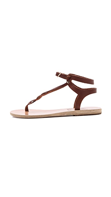Ancient Greek Sandals Ismene Braided Sandals