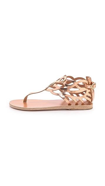 Ancient Greek Sandals Medea Metallic Flat Sandals