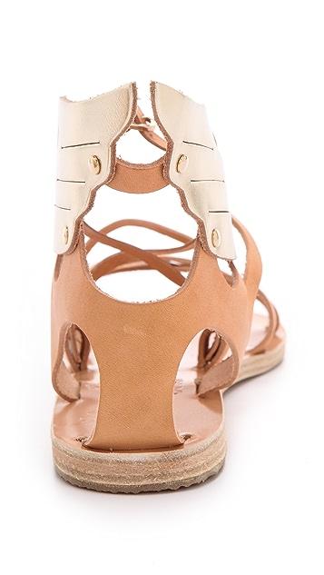 Ancient Greek Sandals Nephele Wing Flat Sandals