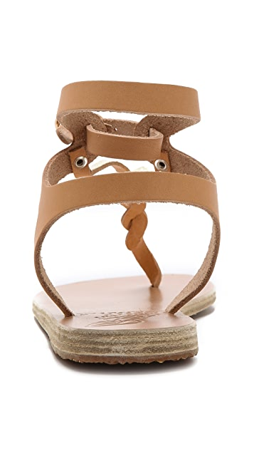Ancient Greek Sandals Ismene Braided Thong Sandals