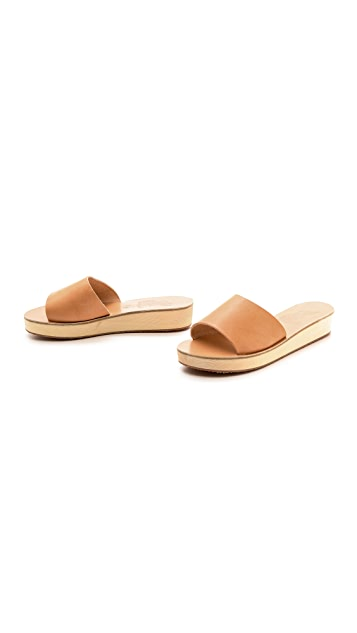 Ancient Greek Sandals Taygete Platform Slide Sandals