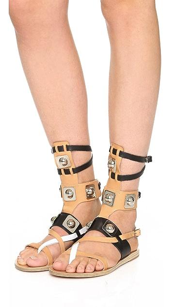 Ancient Greek Sandals Ancient Greek Sandals for Peter Pilotto Gladiator Sandals
