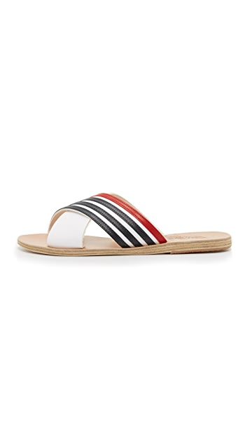 Ancient Greek Sandals Thais Crisscross Striped Sandals