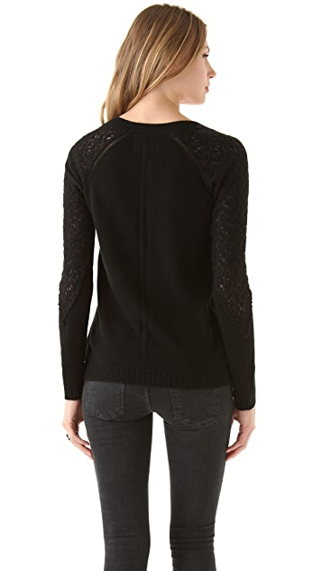 AIKO Lace Web Sweater
